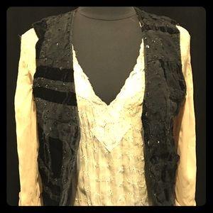 Tops - Effecti Vintage beaded black vest